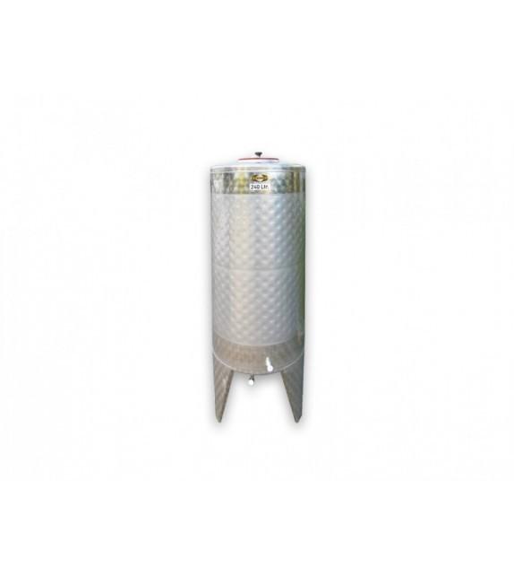 CUVE INOX 240L AVEC DOUBLE PAROI 1,1m²